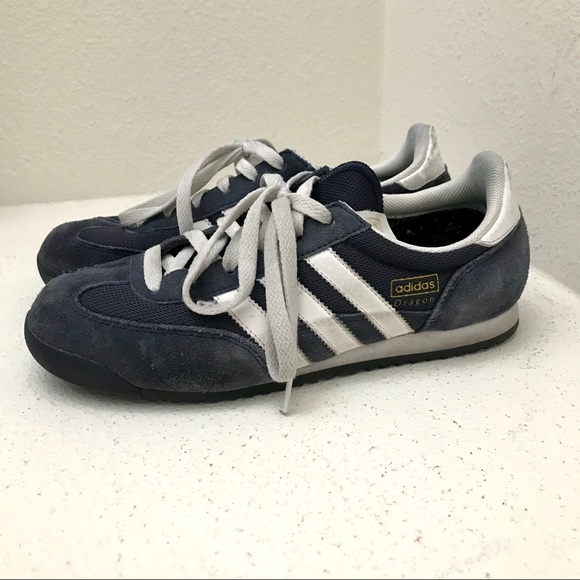 Adidas navy Dragon sneakers (6.5M8W)